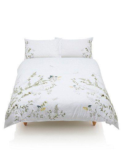 Botanical Embroidered Bedding Set Marks Spencer London