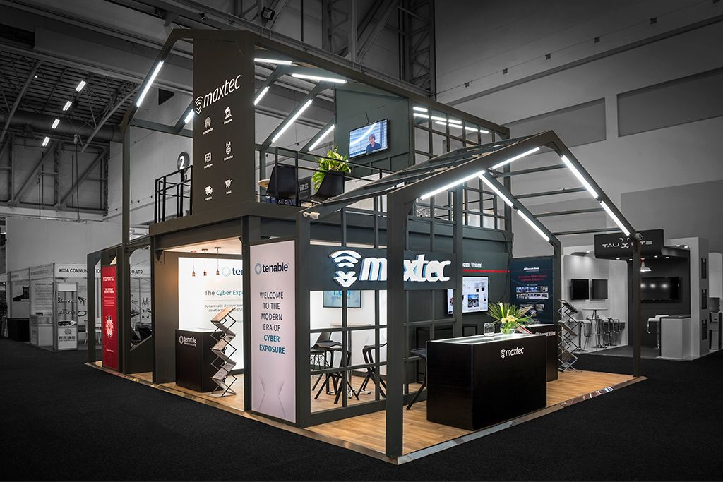 Expo Stands Cape Town : A custom made exhibition stand for maxtec on africacom