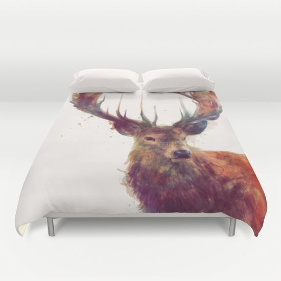 Red+Deer+//+Stag+Duvet+Cover+by+Amy+Hamilton+-+$99.00