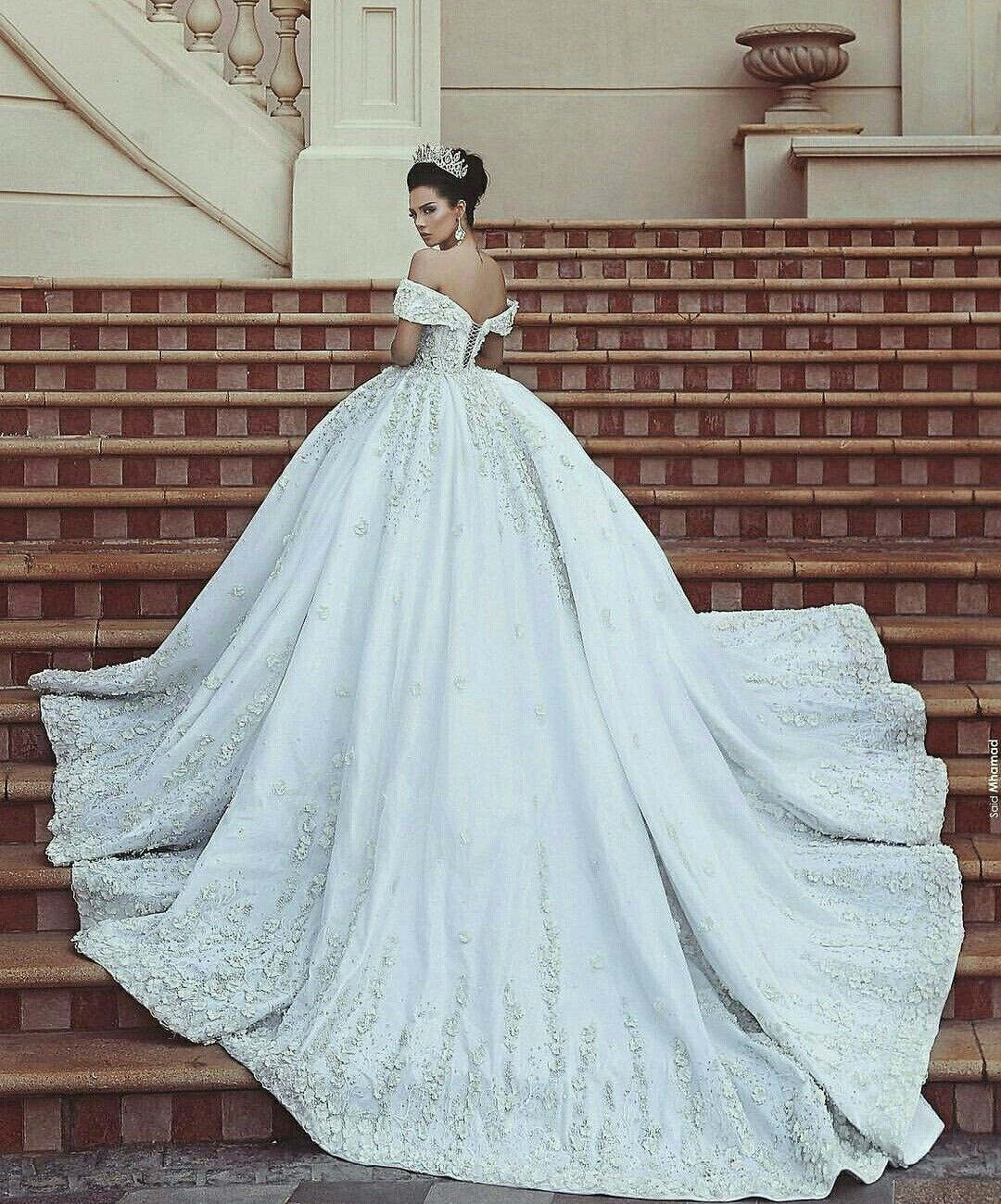 Pin by Hind Salim on Wedding dress   Ball gowns wedding, Ball gown ...