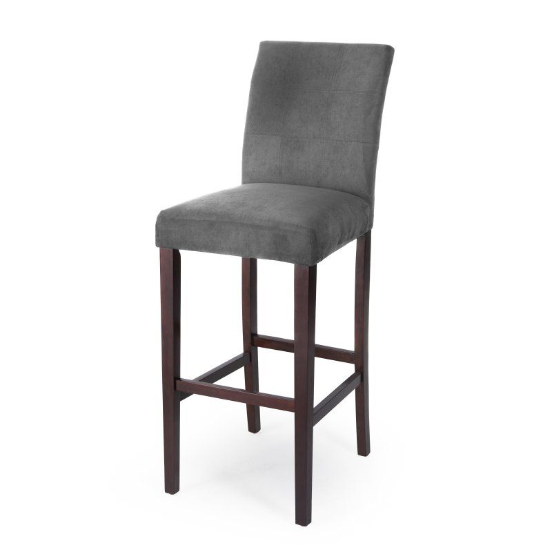 Palazzo 34 Inch Extra Tall Bar Stool Set Of 2 Grey D14820079 Mp