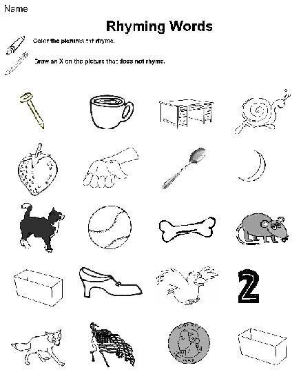 September Kindergarten Homework Rhyming Worksheet Kindergarten Homework Kids Math Worksheets Rhyming worksheets for preschool