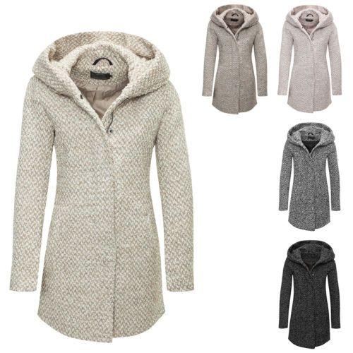 only manteau femme veste blouson capuche laine chaud hiver. Black Bedroom Furniture Sets. Home Design Ideas