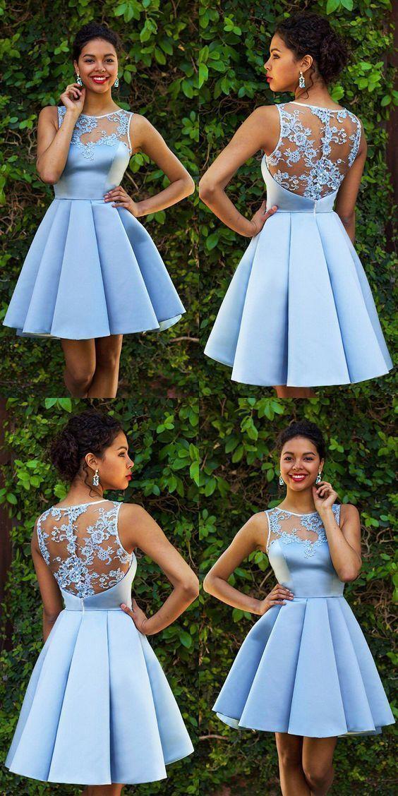 f167f067766 Charming Cute Sky Blue Homecoming Dresses