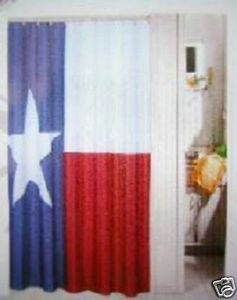 I Need This To Go In My Bathroom That Has Red White And Blue Tile Curtains Texas Flags Blue Tiles