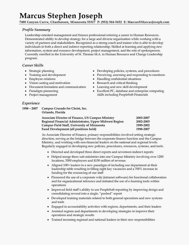 Summary On Resume Examples Pinterest Resume examples