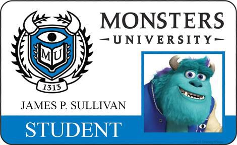 MONSTERS UNIVERSITY - Character Posters and Student IDCards - News - GeekTyrant