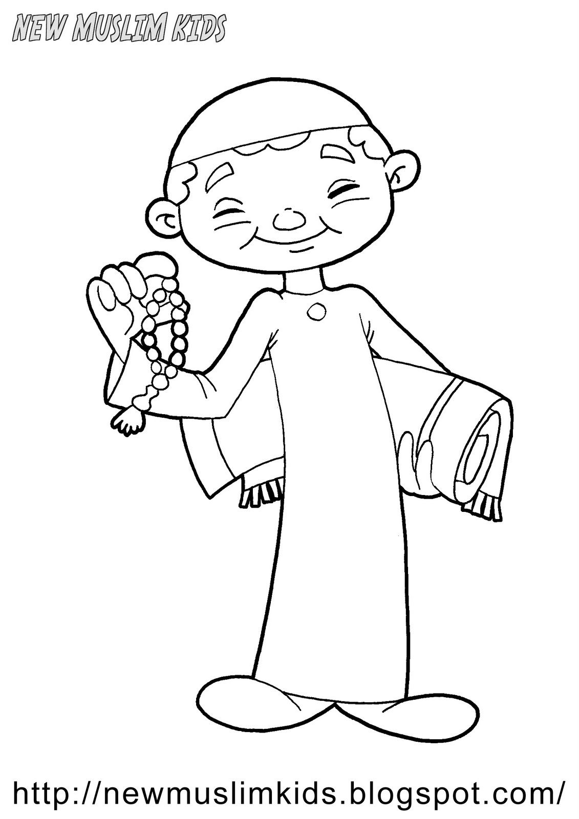 Going to Pray coloring page Ramadan Activities Pinterest