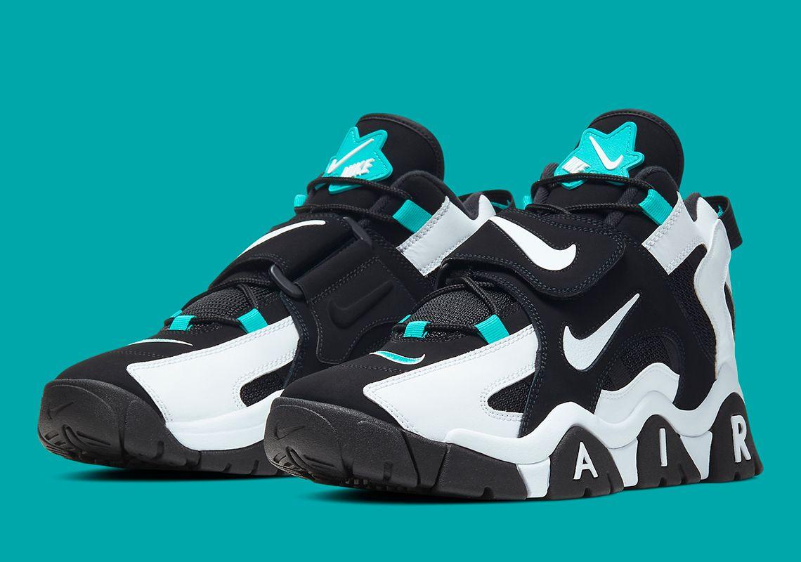 Nike Air Barrage Black White Aqua