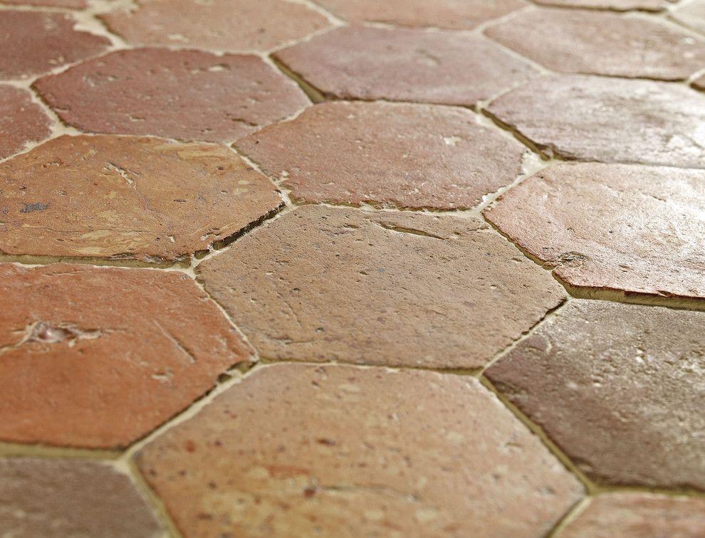French Terracotta Hexagon Handmade Clay Floor Tiles Www Lapicida