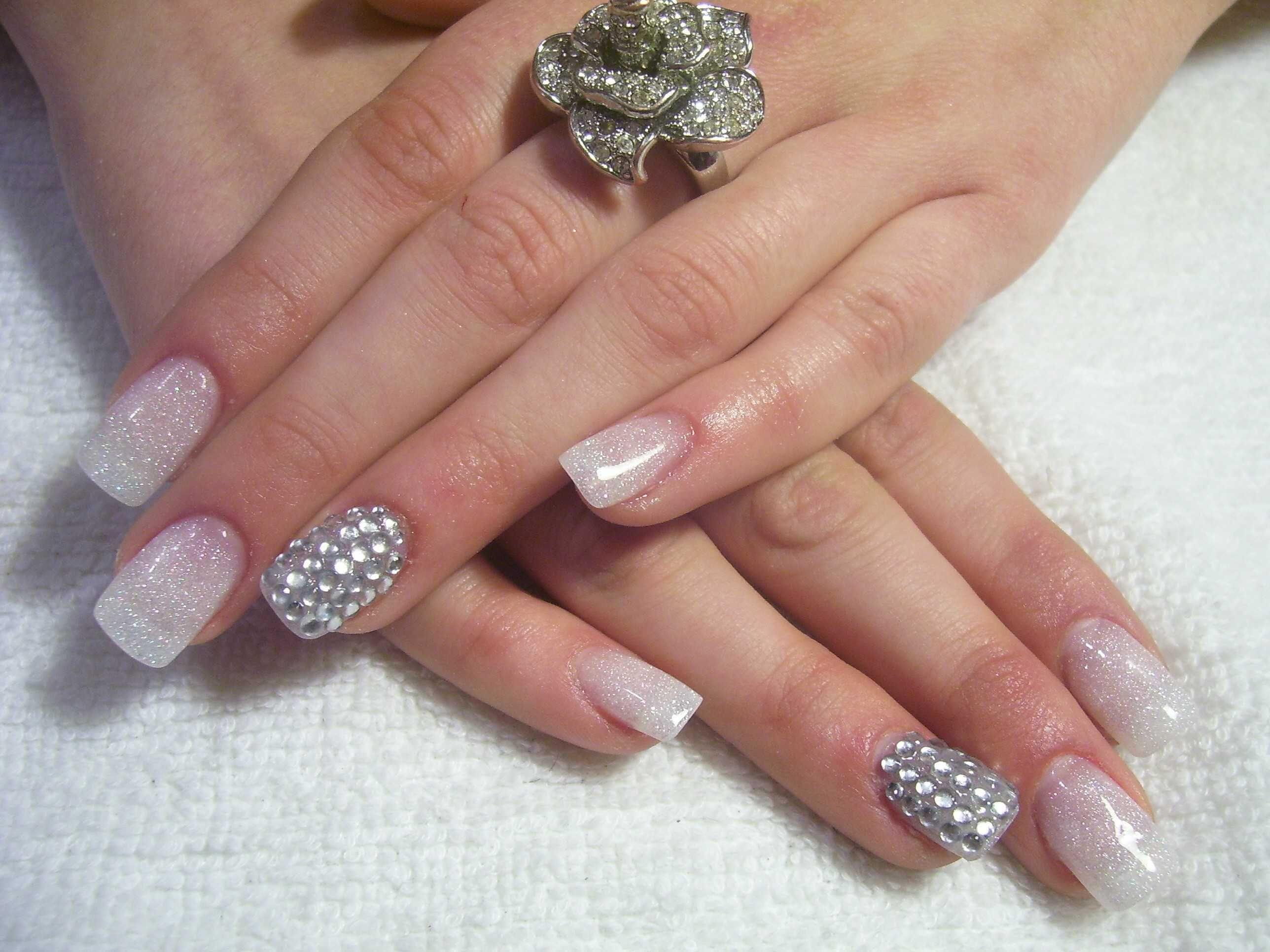 Shiny Diamond Nails | Nails! | Pinterest | Diamond nails, Diamond ...