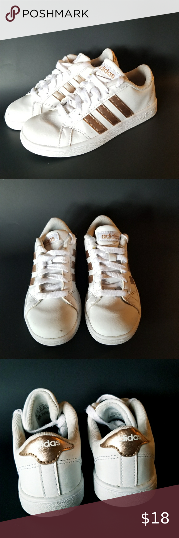 Girls Adidas Grand Court Sneakers Size