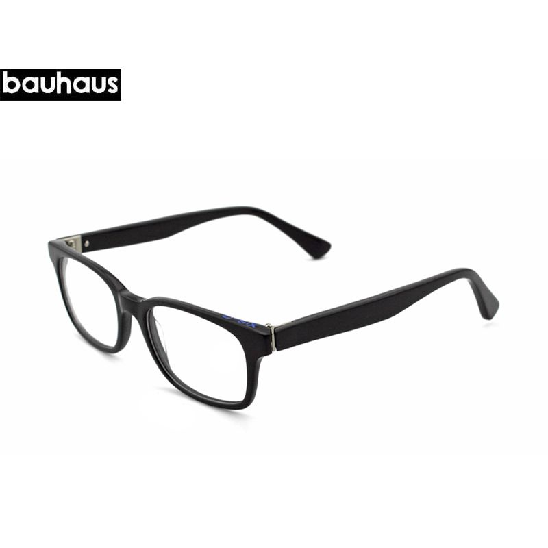 Click to Buy << bauhaus Italy Design Black Acetate Full-Rim ...