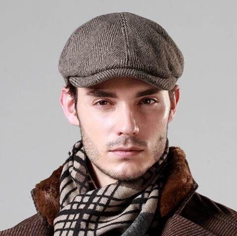 d72f1b9dea Mens flat cap British style Outdoor Casual winter hats | mens flat ...