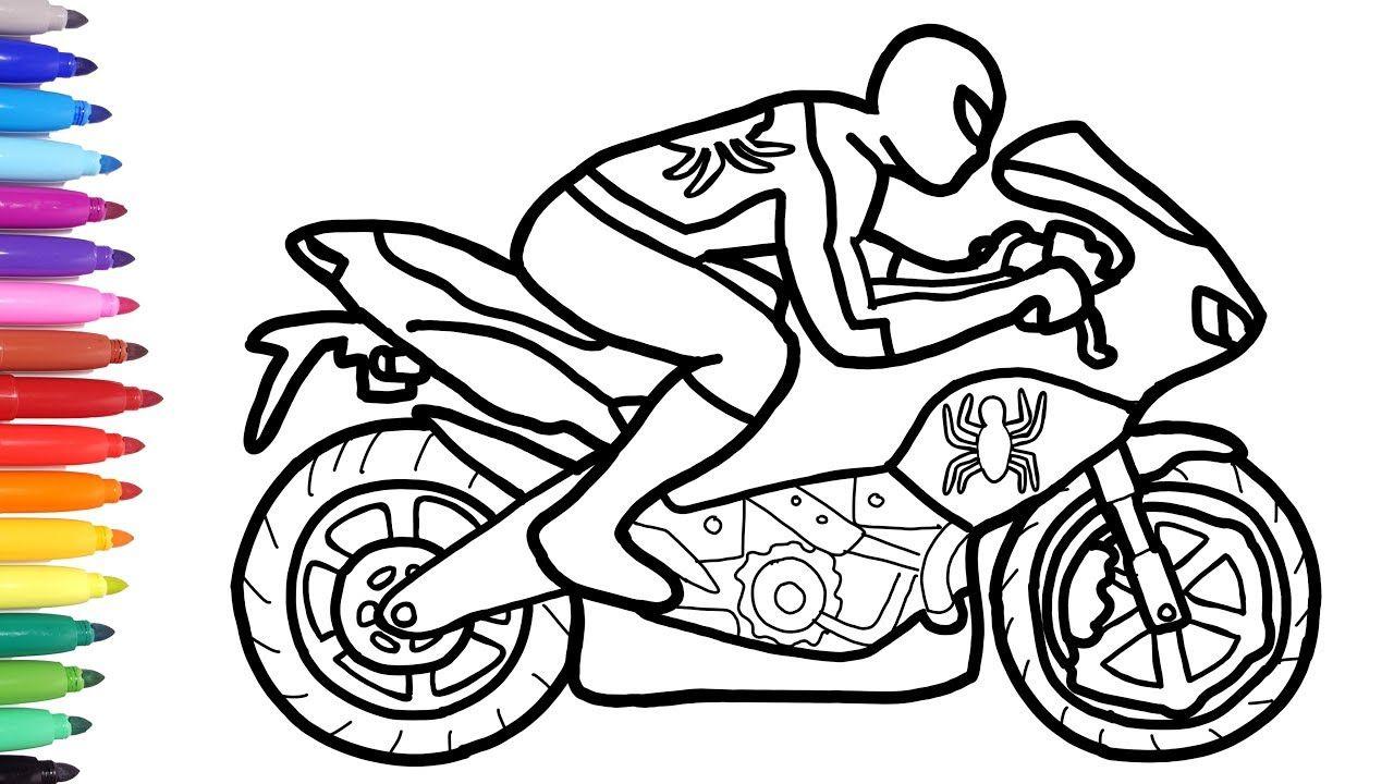 Bike Coloring Page Maxresdefault Superhero coloring