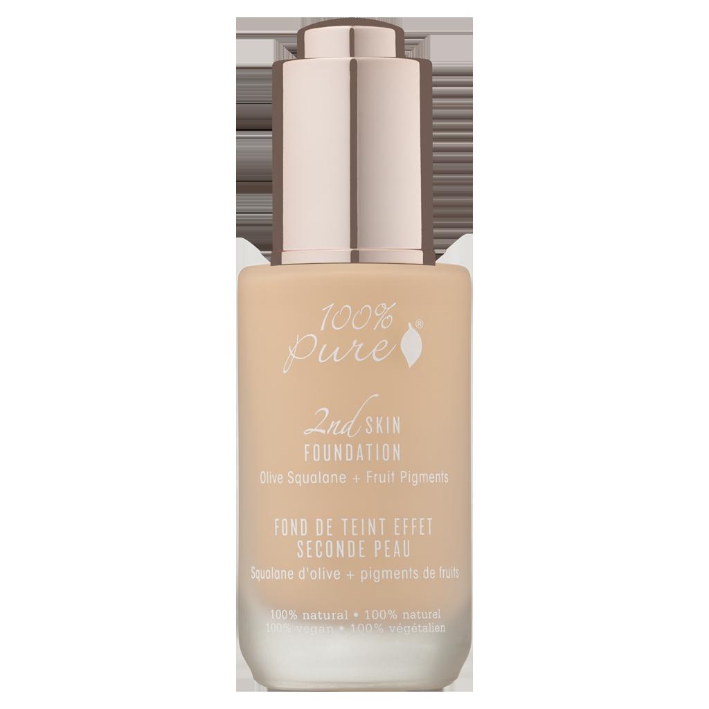 100 Pure White Peach 2nd Skin Foundation Titanium