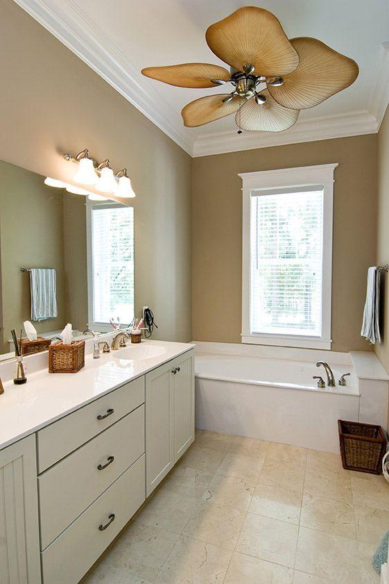Pin By Megan Marcusen On Bathroom Remodeling Ceiling Fan Bathroom Bathrooms Remodel Long Narrow Rooms