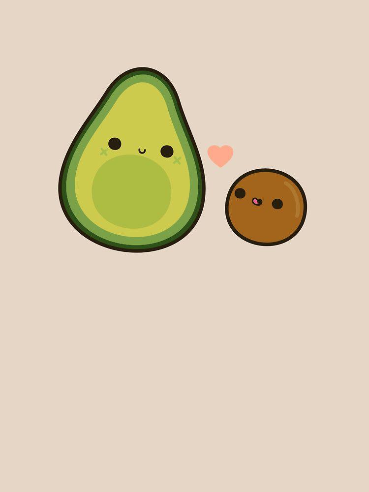 Cute Avocado And Stone Essential T Shirt By Peppermintpopuk Cute Avocado Wallpaper Iphone Cute Cute Food Drawings