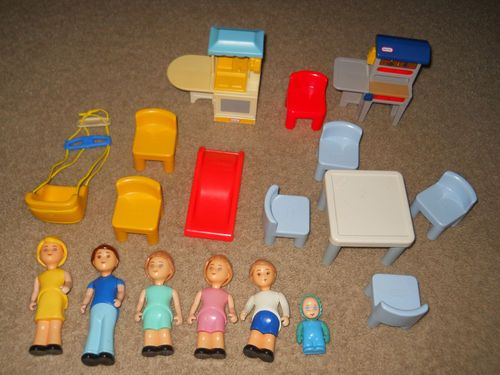 Lot Of Little Tikes Dollhouse Furniture Accessories People | EBay