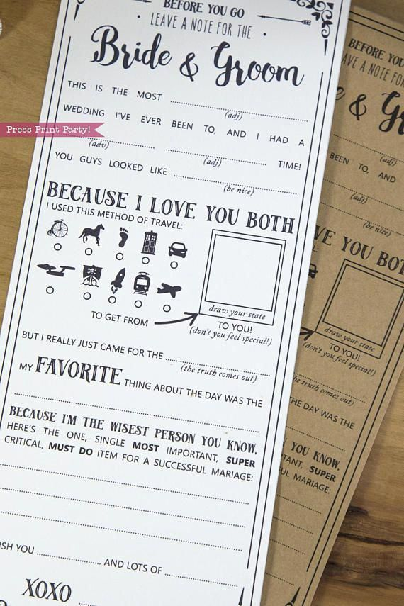 Wedding Mad Libs Printables, Marriage Advice Cards, Boho Wedding, Advice for the Bride, Geek Wedding, Dr. Who, Star Trek, INSTANT DOWNLOAD -   18 wedding Games for money ideas