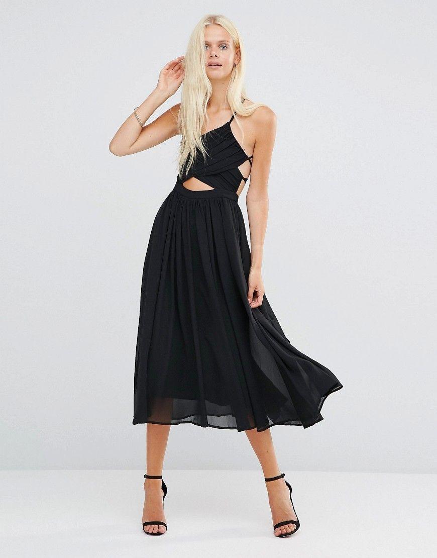 3eb0b341c5479 Lavish Alice Wrap Lace Up Floaty Midi Dress | ƒæ§hÍÓπ | Dresses ...