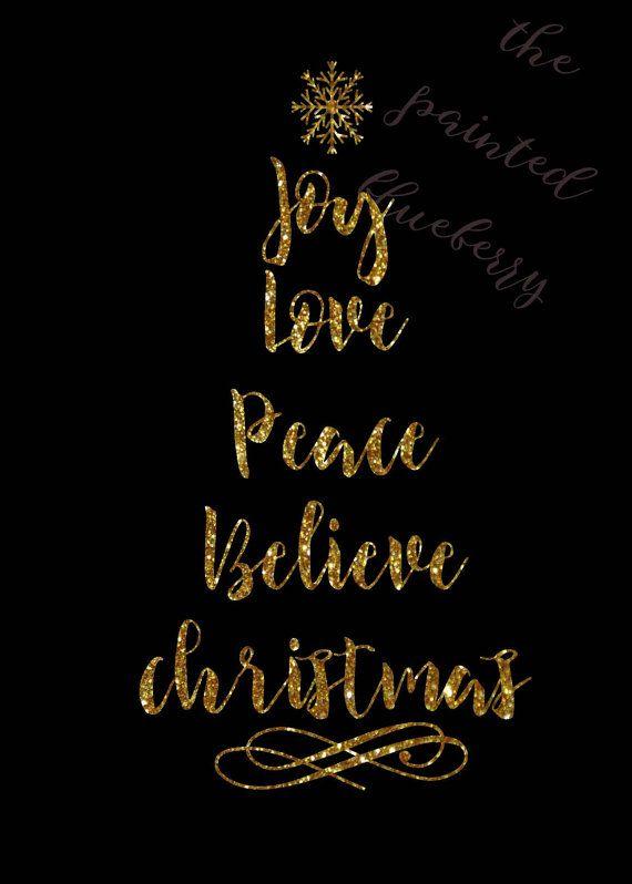 Joy, Peace, Love, Christmas