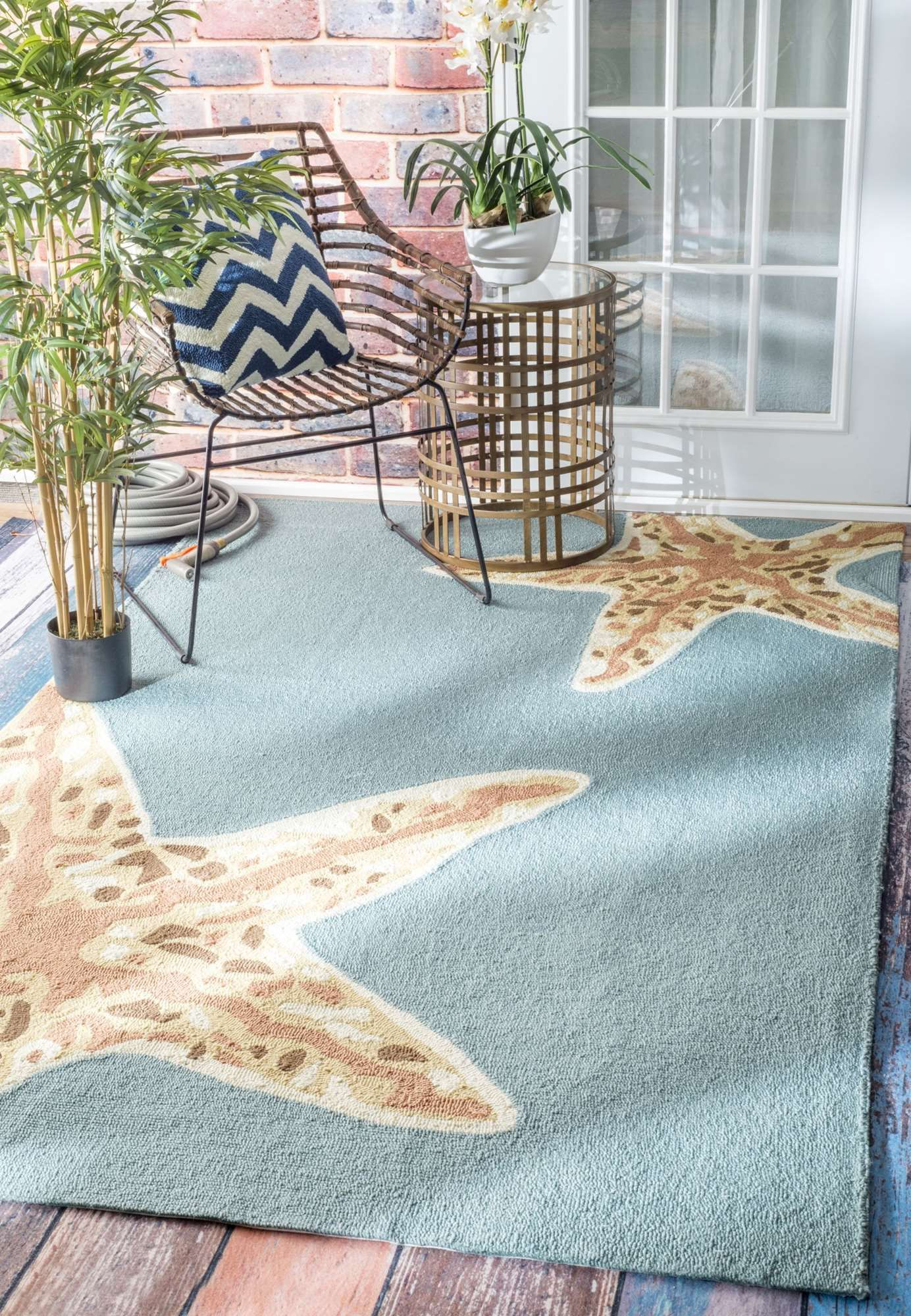 Rugs Usa Breeze Indoor Outdoor Starfish Rug Available In 5 X 8