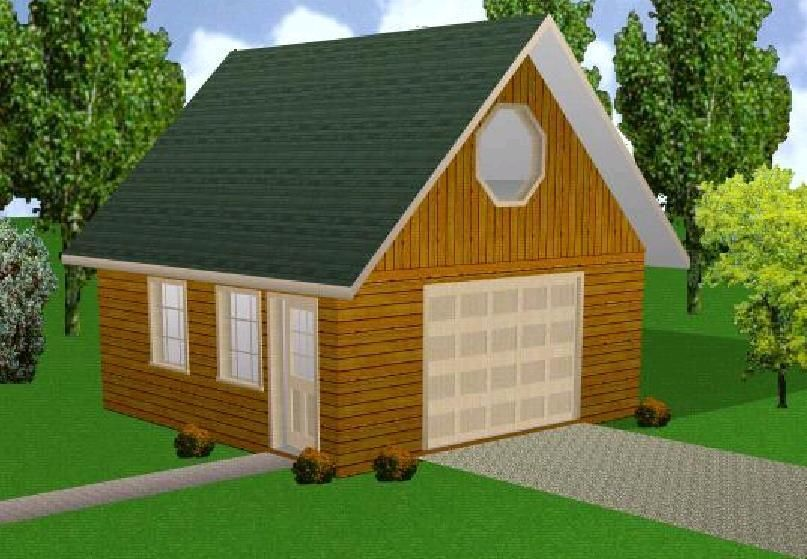 Details about 20x20 garage w loft plans package for Material list for garage
