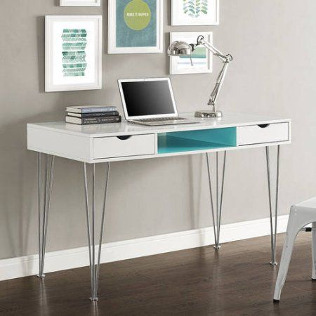 Walker Edison 48 inch Modern Wood Computer Desk, Multiple Colors