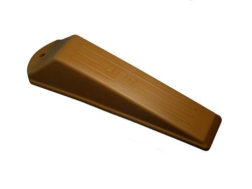 DOOR CLOSER STOPPER WEDGE JAM STOP MEDIUM BROWN RUBBER PACK OF 4