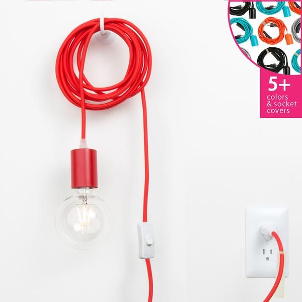 Plug In Pendant Light Cord Set Metal Socket Cover
