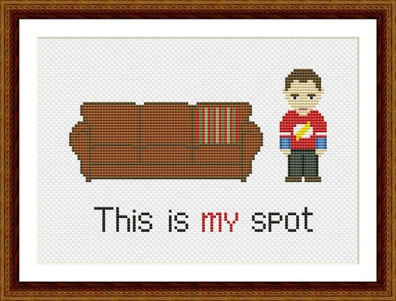 The Big Bang Theory Funny Cross Stitch PDF Pattern This is my spot