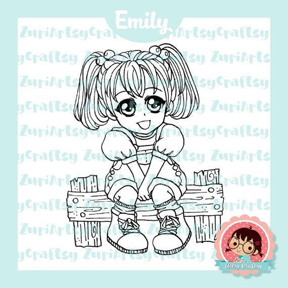 Digital Stamp, Emily, Cute Girl, Scrapbooking Digital