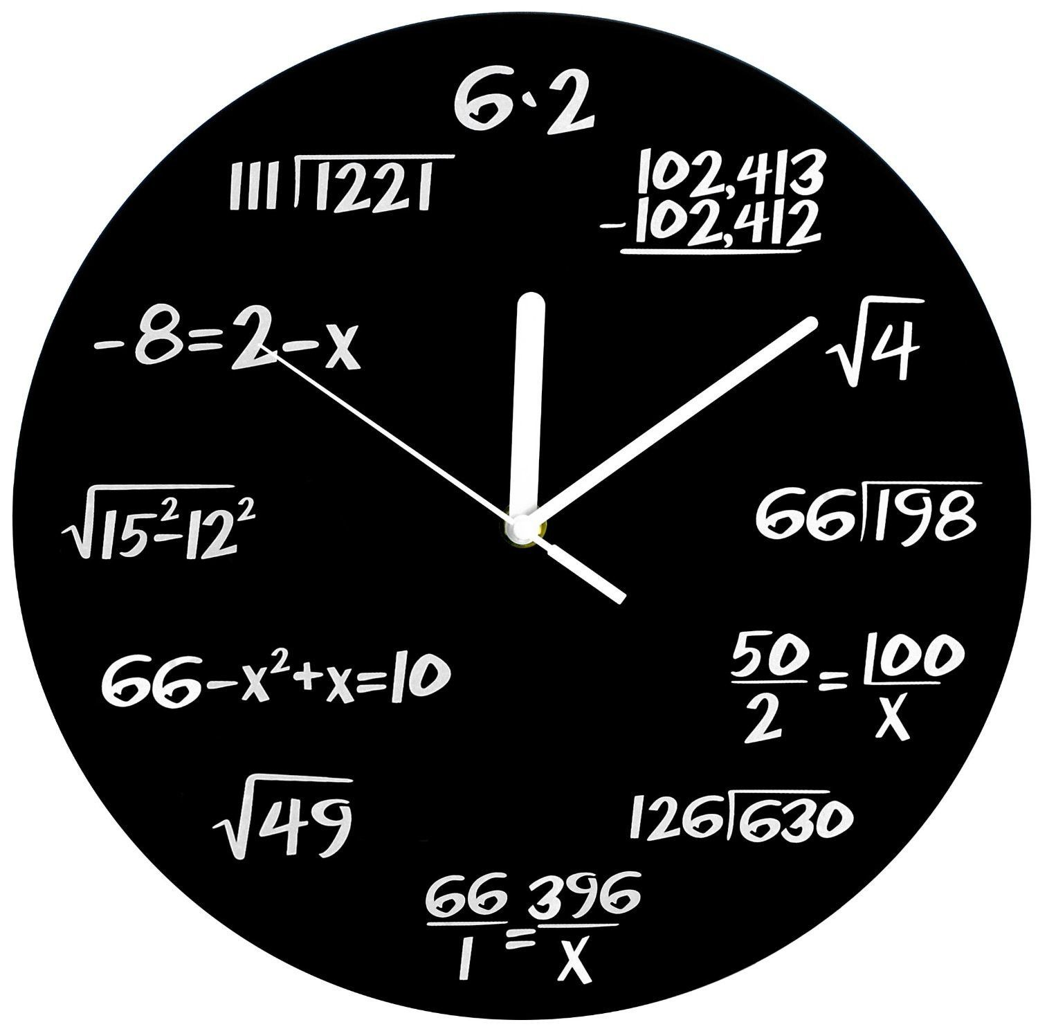 Math Clock Math Clock Unique Wall Clocks Math Wall