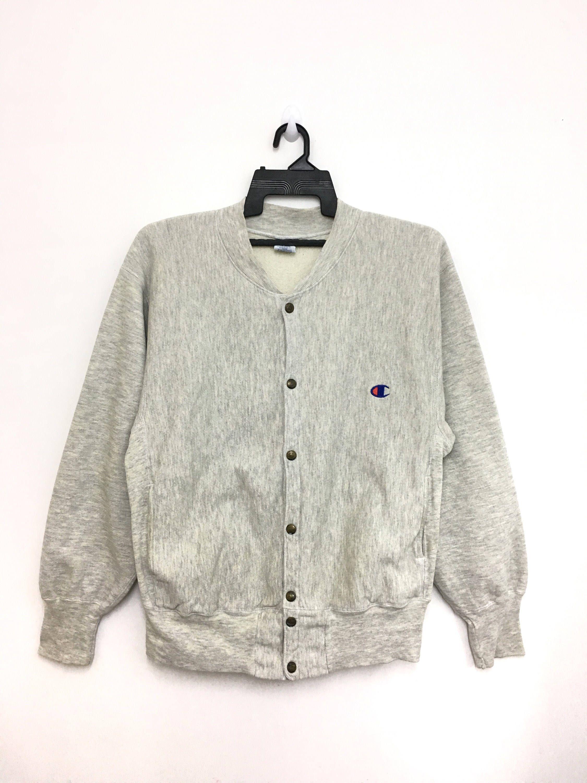 e639cb966b89 Vintage 90s CHAMPION Varsity Sweatshirt Jacket Reverse Weave Snap Button  Made In Mexico Medium Size on tag  clothing  hoodie  birthday  streetwear  ...