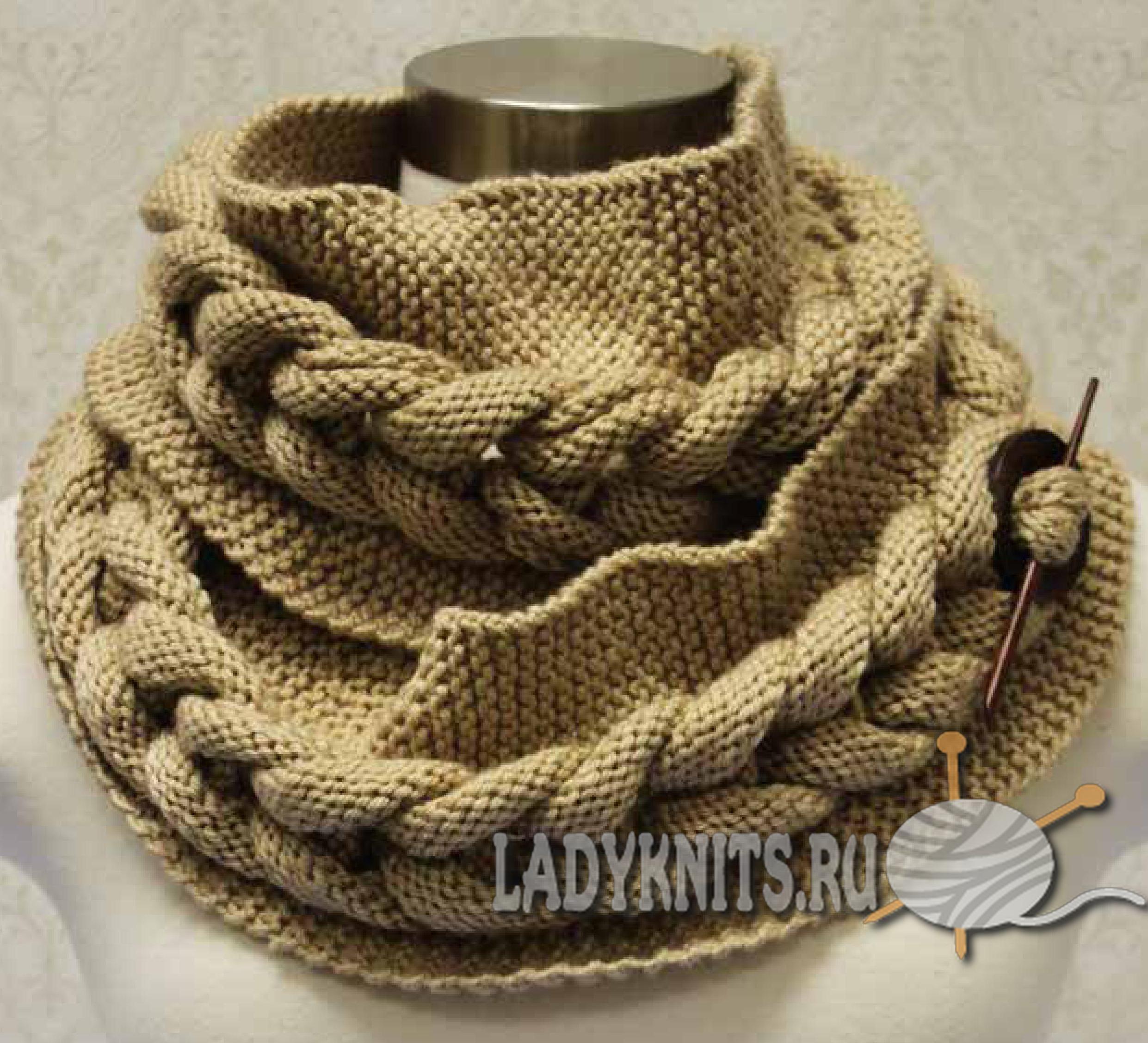 шарф хомут схема французской резинкой