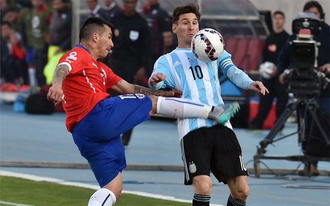 """Final COPA AMÉRICA: Chile vs Argentina. En Argentina dicen que Medel es la """"kriptonita"""" de Messi. ¡ Vamos CHILE Carajo !!!"""