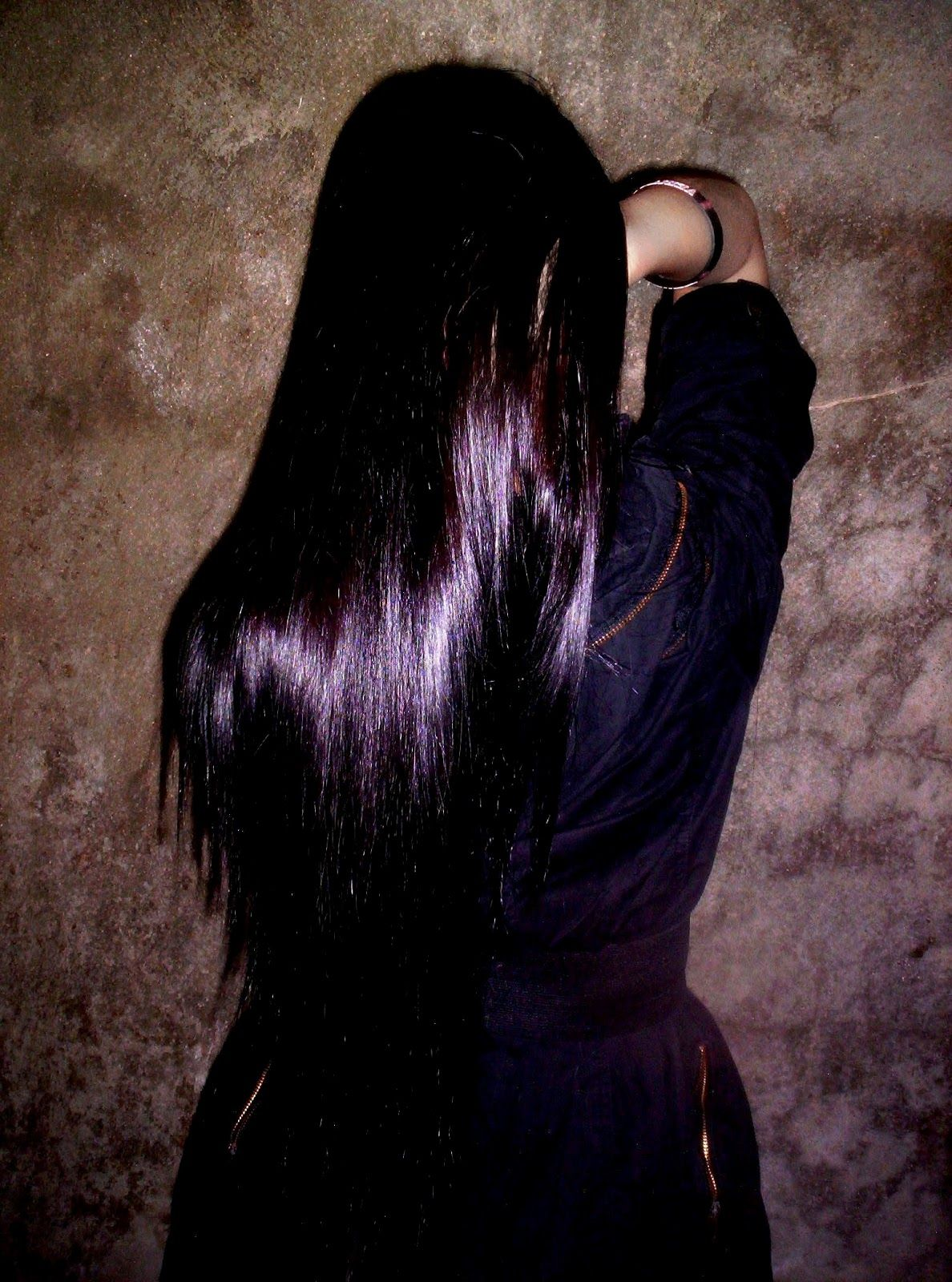 Fairfarren poem black with purple tint this color hair options