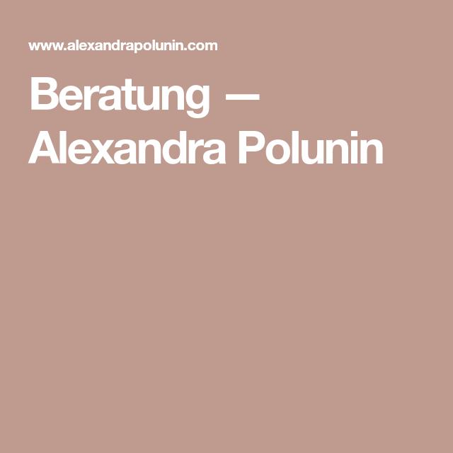 Beratung — Alexandra Polunin Beratung, Marketing