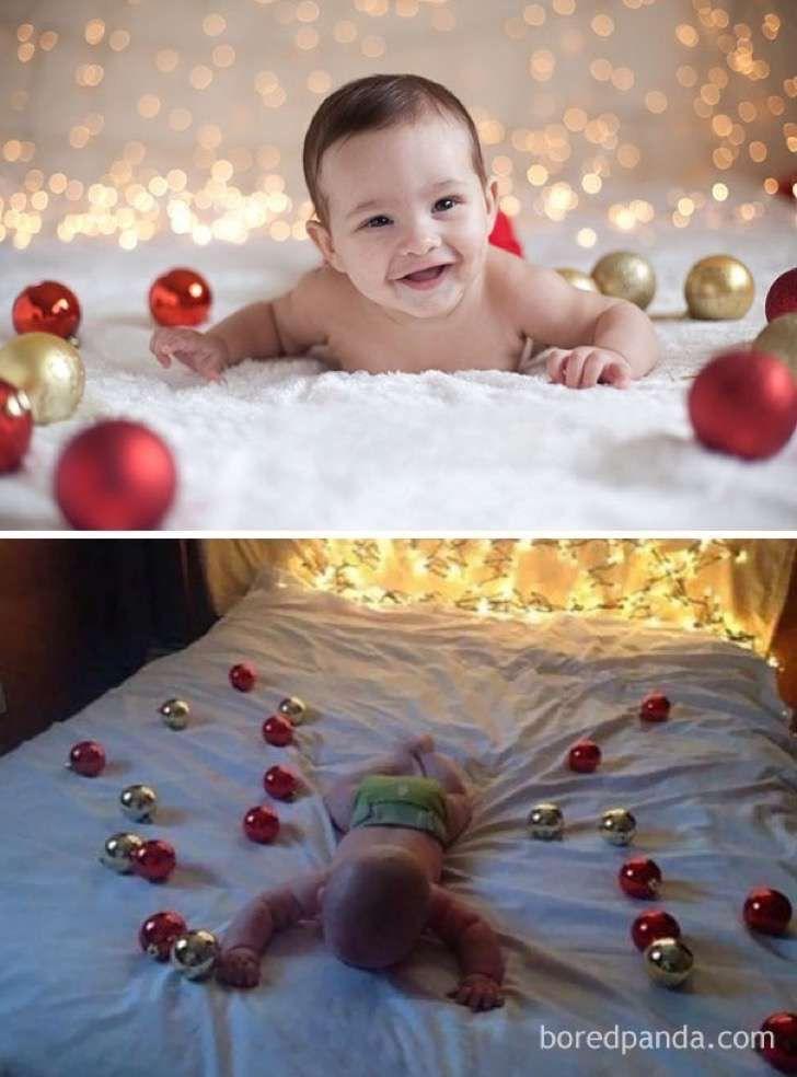 Expectativa v/s realidad: 21 sesión de fotos de bebés en Navidad que ...