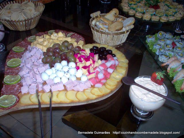 Cozinhando com Bernadete: TÁBUAS DE FRIOS II