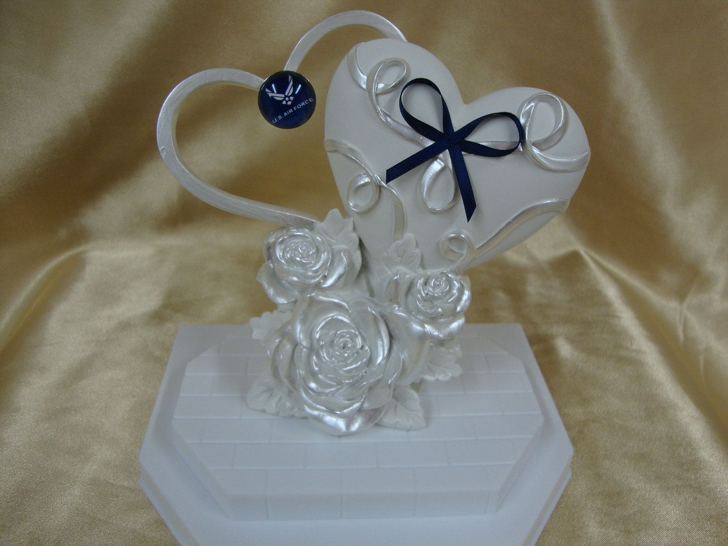Wedding cake topper with air force decoration wedding ideas