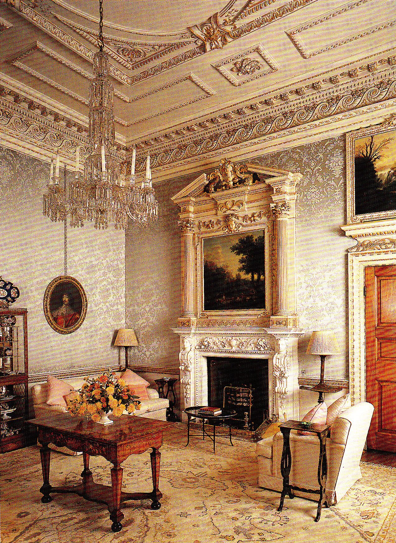 Inside House Drawing: Drawing Room. Book: Early Georgian