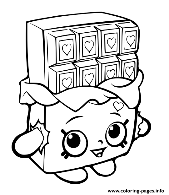 Coloriage Chocolat Kawaii.Print Shopkins Chocolat Bar Coloring Pages Feuille De