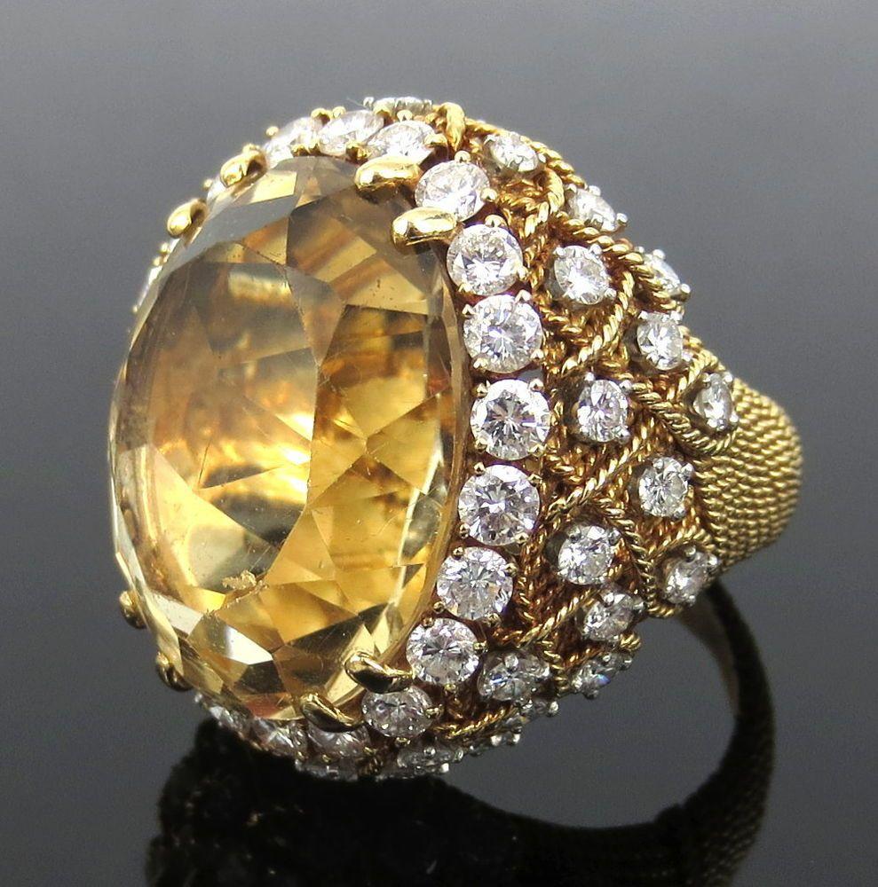 David webb ct citrine u ct diamond platinum u k gold