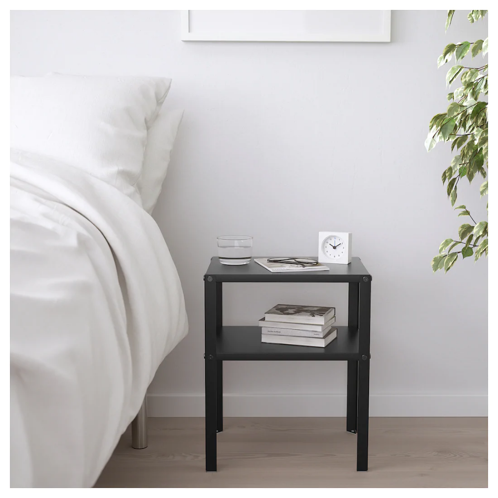 Ikea Knarrevik Black Nightstand Bedside Table Ikea Bedroom