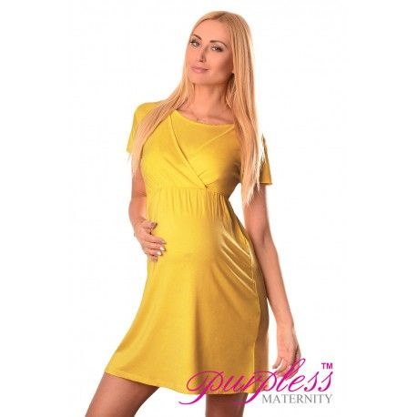85f8126f2742a Comfortable 2in1 Maternity and Nursing Dress 7200 Mustard Maintain your  pre-bump style throughout your