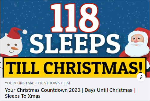 Pin By Sonja Perho On Christmas In 2020 Days Until Christmas Sleeps Till Christmas Christmas Countdown