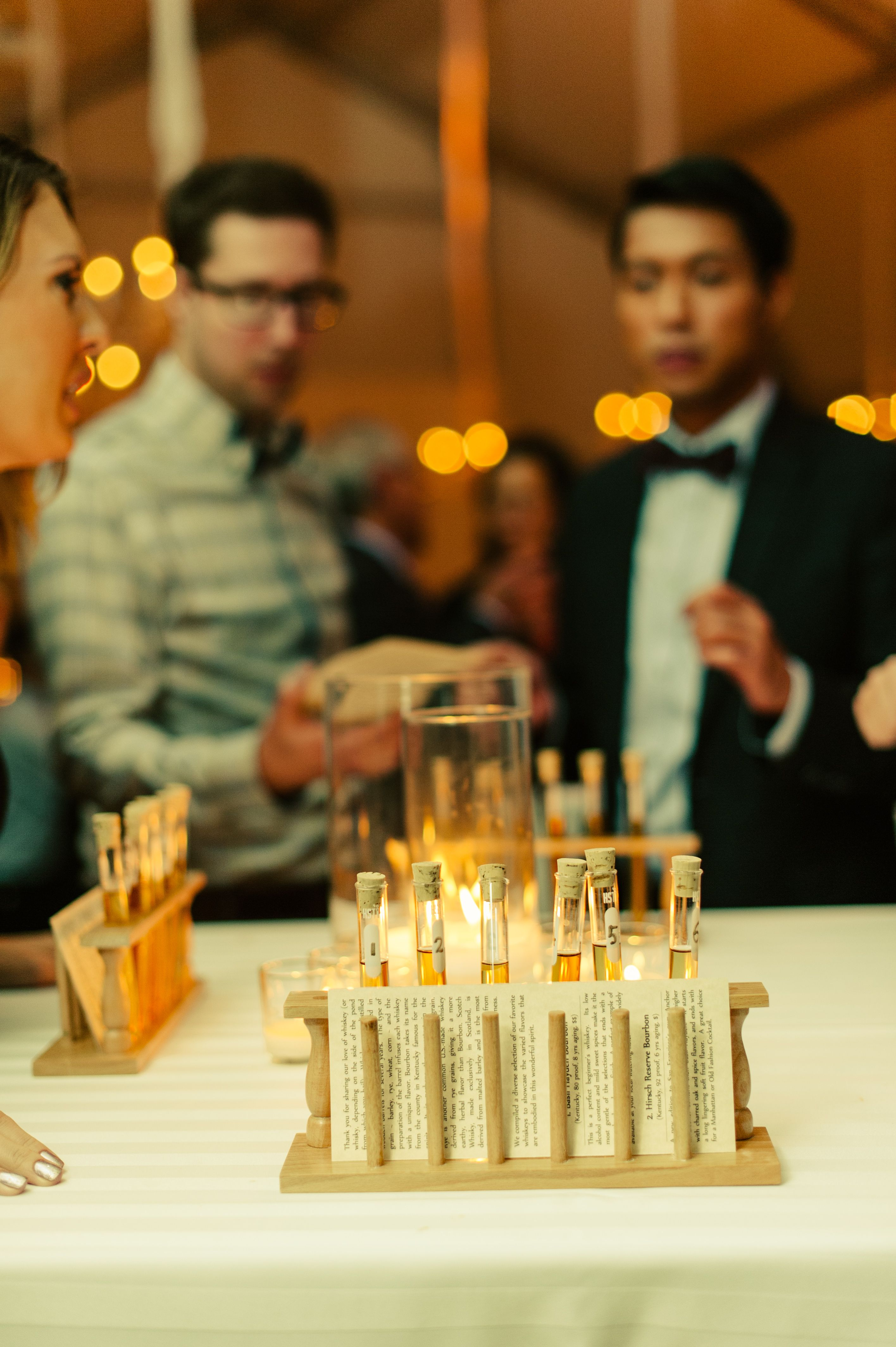 Whiskey tasting at the reception // Photo by Maddie