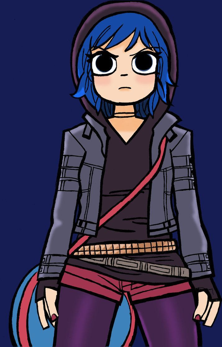 Ramona Flowers With Blue Hair Anime Google Search Scott